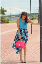 mullet floral coco cabana skirt - satchel Bella Donna bag - coco cabana top