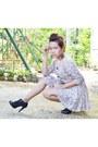 Floral-dress-korean-apparel-dress-ankle-boots-leaveland-heels