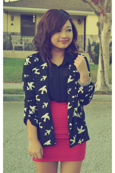 black birds Forever 21 blazer - button up Lush blouse
