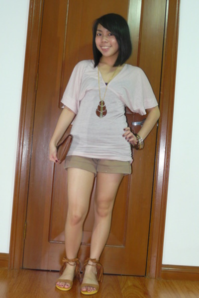 kashieca top - shorts - xmas gift - Trunk Show - F&H necklace