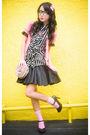 Pink-forever21-cardigan-black-topshop-skirt-black-random-blouse-pink-marks