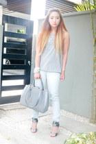 heather gray Fendi bag