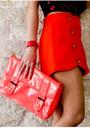 Orange-fashion-galore-shorts-carrot-orange-parisian-bag