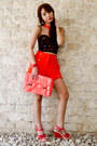 Carrot-orange-parisian-bag-orange-fashion-galore-shorts