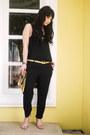 Gold-gold-dot-bag-gold-versace-belt-black-zara-romper-black-topshop-top
