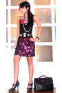 Black-glitterati-belt-pink-glitterati-skirt-black-online-shoes-silver-fudd