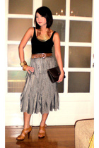 Kate Moss for Topshop top - Chanel belt - Hindy Tantoco skirt - Cru Vintage neck