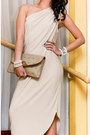 Beige-custom-made-dress-camel-vintage-clutch-christian-dior-bag-ivory-pearl-