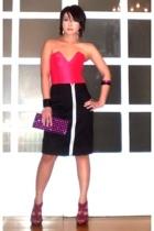 pink Glitterati top - pink the Librarians shoes - pink Terranova bag
