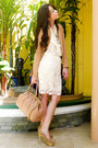 Camel-twill-h-m-blazer-nude-stam-marc-jacobs-bag-cream-lace-forever21-skirt
