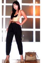 beige Glitterati intimate - black Moonshine pants - brown Chanel belt - beige Ni