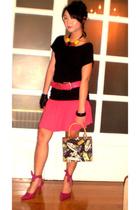Zara top - Granville HK skirt - Rockwell Bazaar necklace - Graxie shoes - balenc