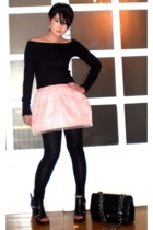 Zara sweater - Zara leggings - Bayo Kids skirt - Miss Sixty shoes - Chanel purse