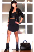 Poisonberry blazer - Glitterati belt - Topshop dress - Miss Sixty shoes - Anthol
