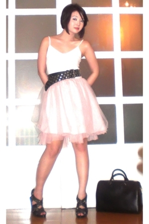 Mango top - Zara belt - Glitterati skirt - Zara shoes - Louis Vuitton purse