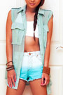 Burnt-orange-zara-sandals-aquamarine-bershka-shorts-aquamarine-wisdom-blouse