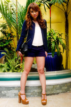 studded Zara blazer - 255 Chanel bag - studded Zara shorts