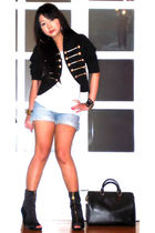 Glitterati blazer - Topman t-shirt - Topshop shorts - Miss Sixty shoes - Louis V