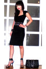 Black-zara-dress-black-glitterati-belt-black-online-shoes-black-chanel-pur