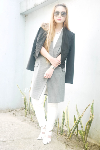 heather gray Zara vest