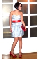 Glitterati dress - From mums old gowns belt - Details purse - Nine West shoes