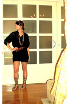 black camisole Esprit top - black Wisdom top - brown shoes