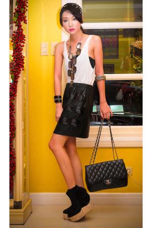 black Glitterati accessories - black platform wedged Soule Phenomenon boots