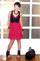 forever 21 dress - forever 21 vest - My collection necklace - Monica Fig shoes -