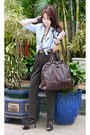 Dark-brown-bumper-boots-dark-brown-muse-purse-ysl-bag-light-blue-online-top-