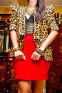 Brown-undernourished-manila-blazer-red-moonshine-skirt-black-glitterati-top-