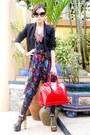 Black-zara-blazer-red-vernis-alma-louis-vuitton-bag
