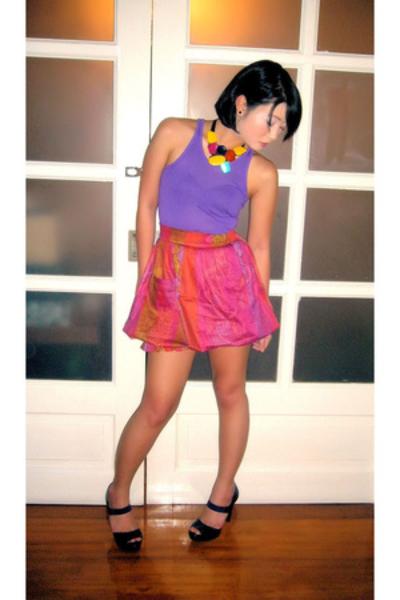 Topshop shirt - Urban Juncture skirt - Michael Kors shoes - salsa trends necklac
