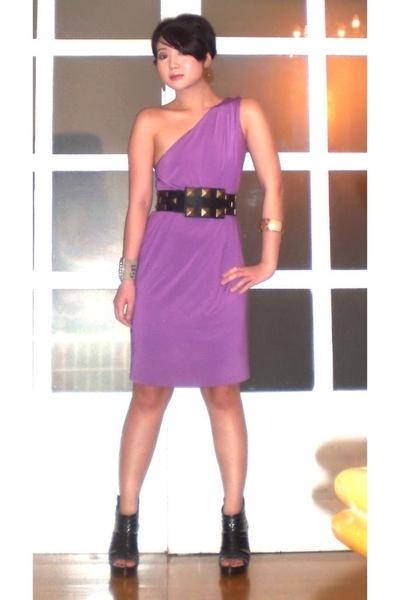 purple mimi dress - black Miss Sixty shoes - black Cintura belt