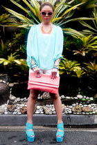coral Loco Hermosa accessories - salmon GOLD COUTURE bag