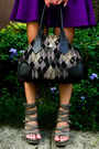 Purple-full-glitterati-skirt-black-vivienne-west-bag