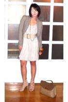 beige Nina Ricci bag - beige Renegade Folk shoes - gray Tyler dress
