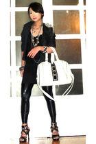 white my sisters bag - black online shoes - black liquid oxy random leggings