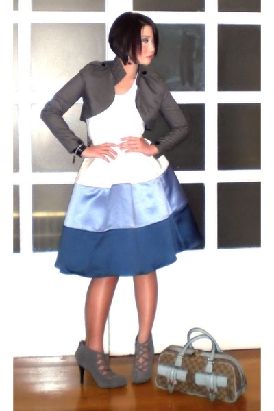 john herrera blazer - Zara top - Tyler skirt - Steve Madden shoes - earrings - G