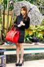 Black-zara-coat-red-celine-bag-black-zara-blouse