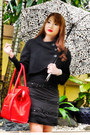 Black-zara-coat-red-celine-bag-black-zara-blouse