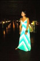 forever 21 dress - Culte Femme purse - Boracay Market bracelet - Havaianas short