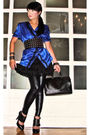 Blue-love-vintage-blouse-black-mango-skirt-leggings-black-aldo-shoes-gli