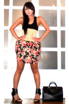 Glitterati top - Glitterati belt - Glitterati skirt - forever 21 shoes - Louis V