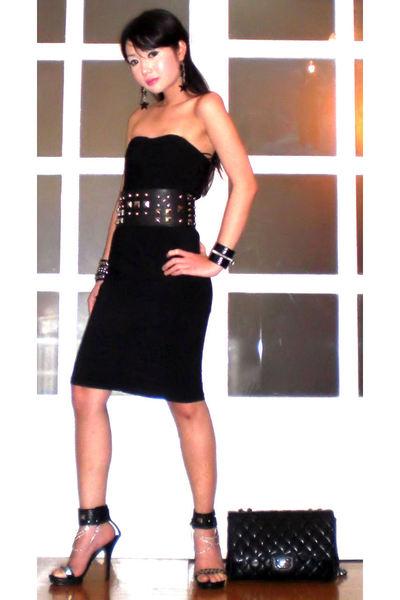 black Glitterati dress - black online shoes - black 255 Chanel bag