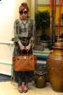 Brown-chanel-belt-olive-green-details-dress-tawny-hermes-bag