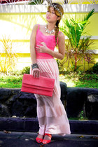 eggshell With Love skirt - salmon GOLD COUTURE bag - salmon pinkaholic top