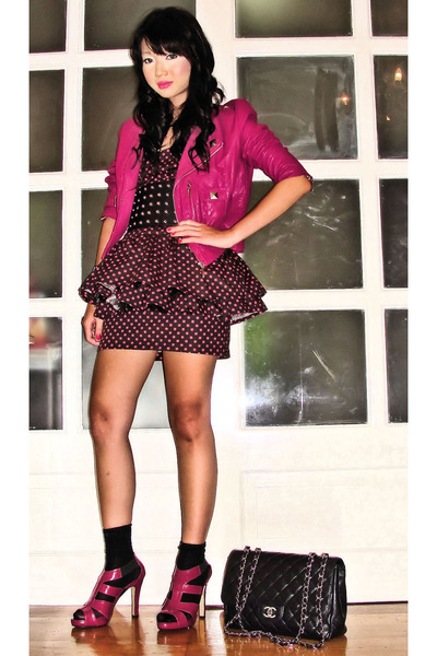 pink Tinsels jacket - brown Glitterati dress - the Librarians shoes - black Mark