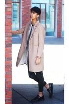 peach H&M jacket - black creepers shoes - black Primark jeans - blue H&M top