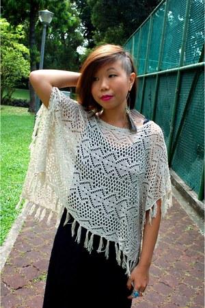 no brand jumper - bought online dress - diva earrings - korea clogs