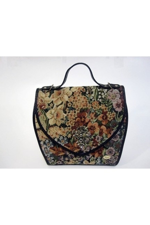 Oh Dear - Vintage Tapestry Leather Handbag purse
